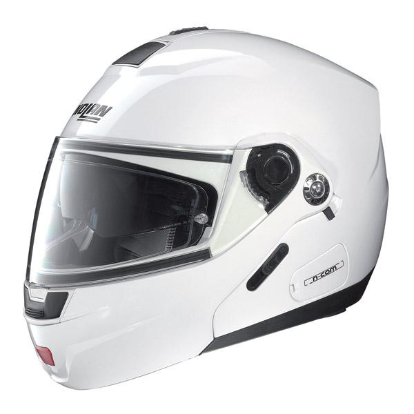 Casco moto Nolan N91 Classic N-Com metal white