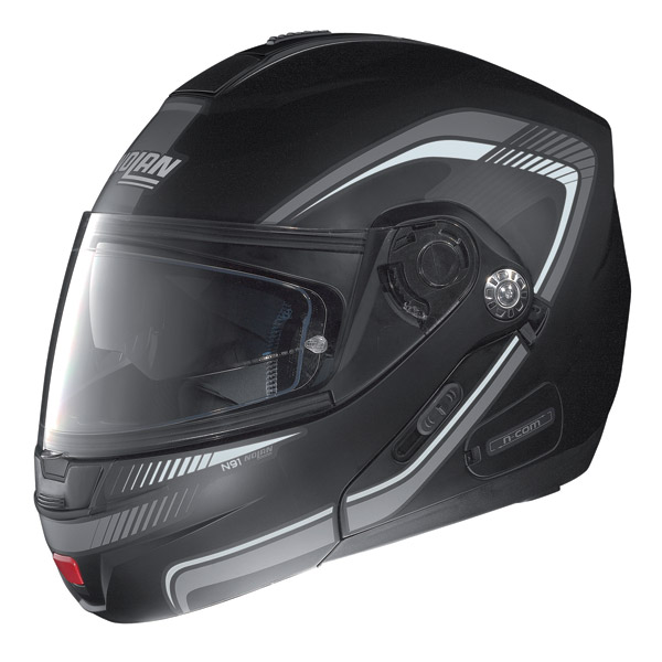 Nolan N91 Revenge N-com open-face helmet flat black-white