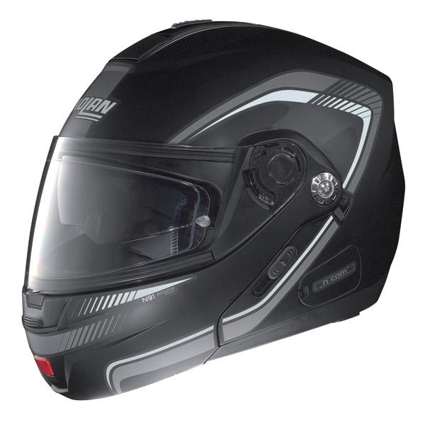 Casco moto Nolan N91 Revenge N-Com nero opaco-bianco