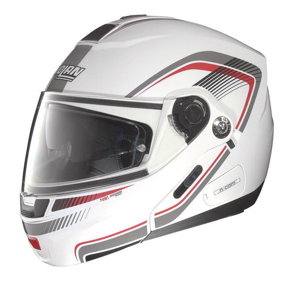 Nolan N91 Revenge N-com open-face helmet metal white-red