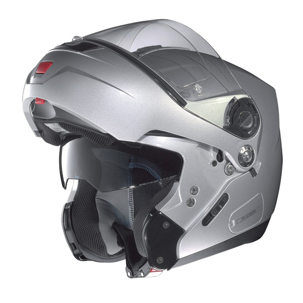 Nolan N91 Revenge N-com open-face helmet metal white-red