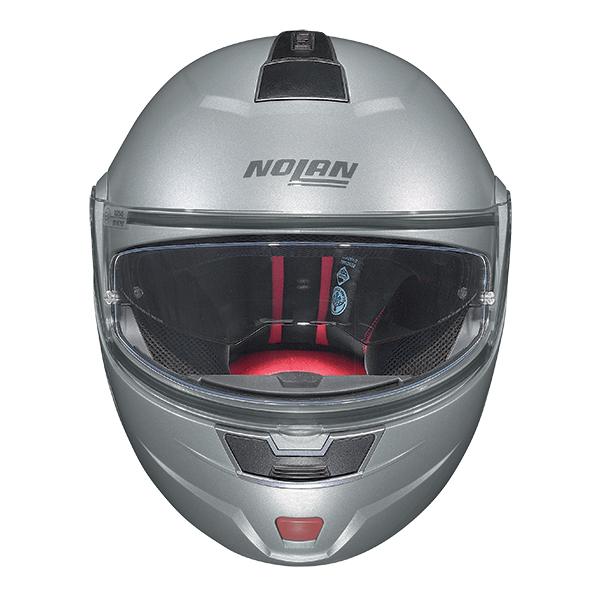 Nolan N91 Evo Classic N-Com flip off helmet Silver
