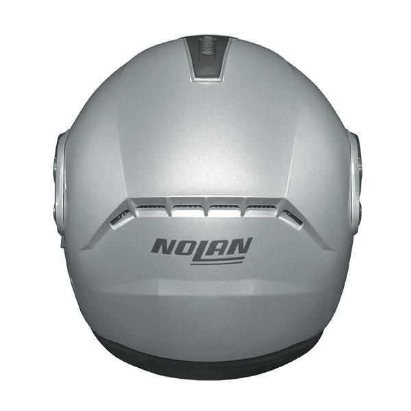 Nolan N91 Evo Strip N-Com flip off helmet White Black