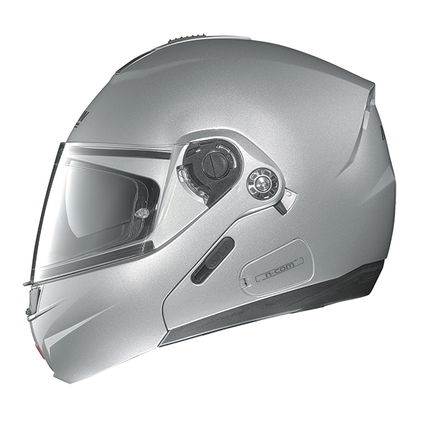 Nolan N91 Evo Strip N-Com flip off helmet Black Matte White