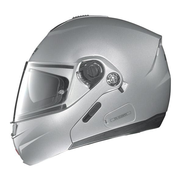 Motorcycle Helmet flip-up Nolan N91 Linear N-Com White