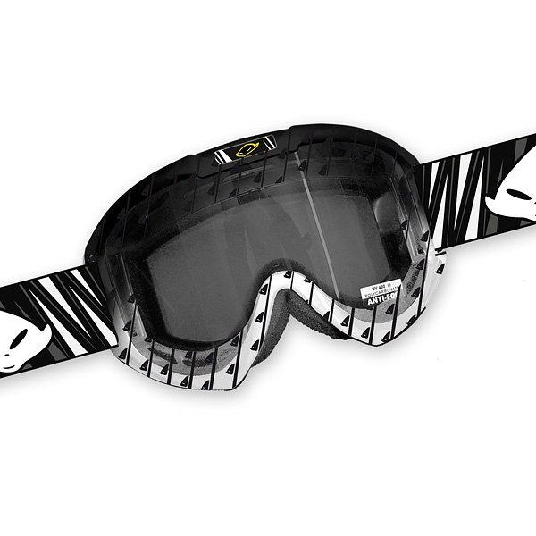Ufo Plast Fusion Evolution cross goggles Black White