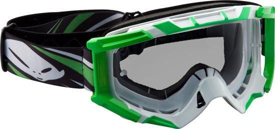 Occhiali moto cross Ufo Plast Mixage verdi