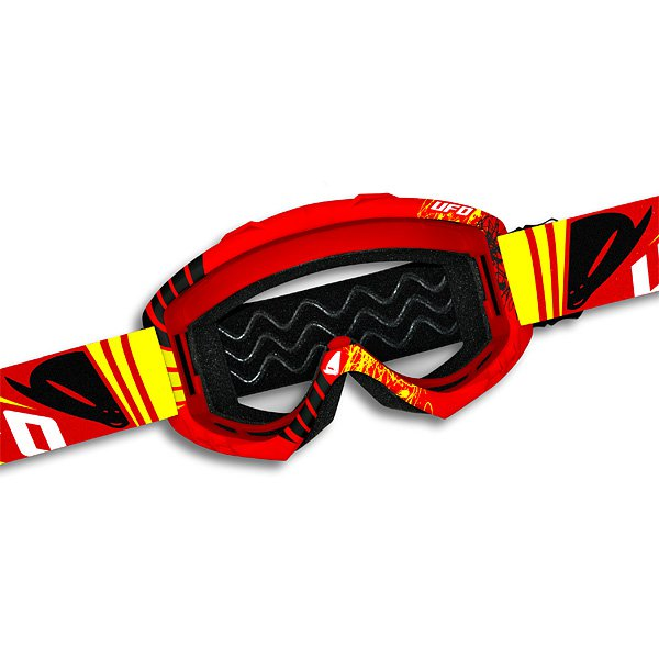 Ufo Plast Bullet cross goggles Red Yellow