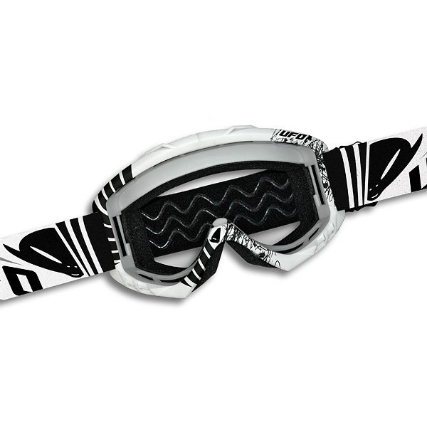 Ufo Plast Bullet cross goggles White Black