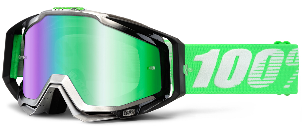 Occhiali cross 100% Racecraft ORGANIC lente specchiata