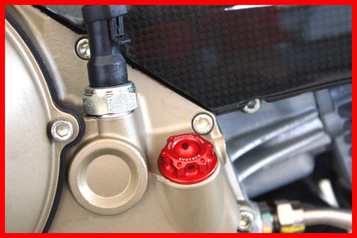 Evotech Tappo olio Ducati Frizione a secco Blu