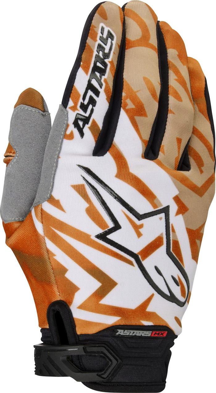 Guanti cross Alpinestars Techstar 2014 bianco arancio