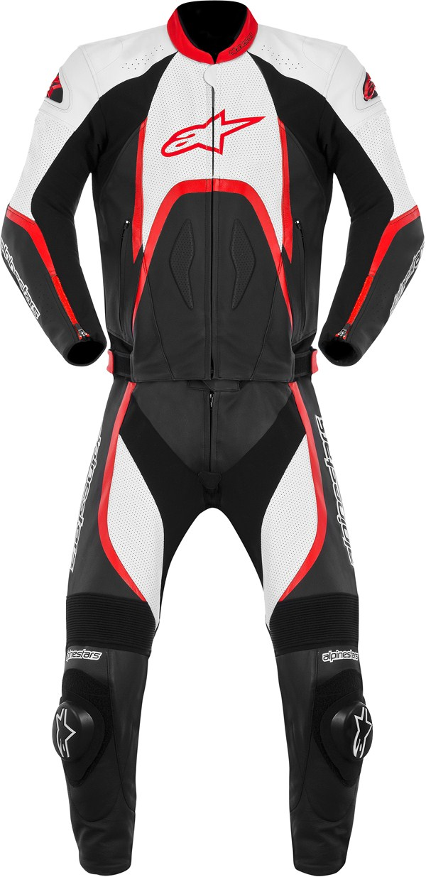 Alpinestars Orbiter leather 2 pieces suit black-white-red