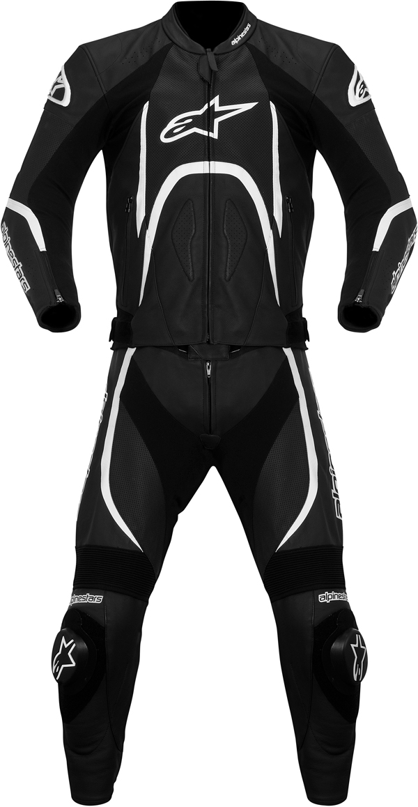 Alpinestars Orbiter leather 2 pieces suit black-white