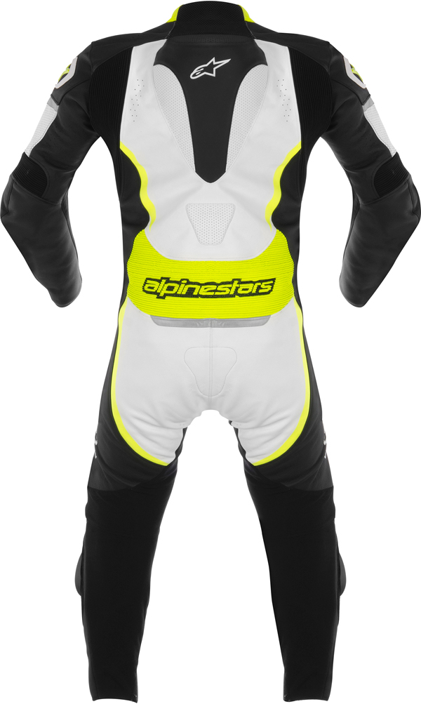 Alpinestars Orbiter leather suit black-white-yellow