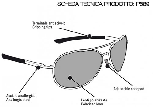Occhiali moto Bertoni Polarized P689D