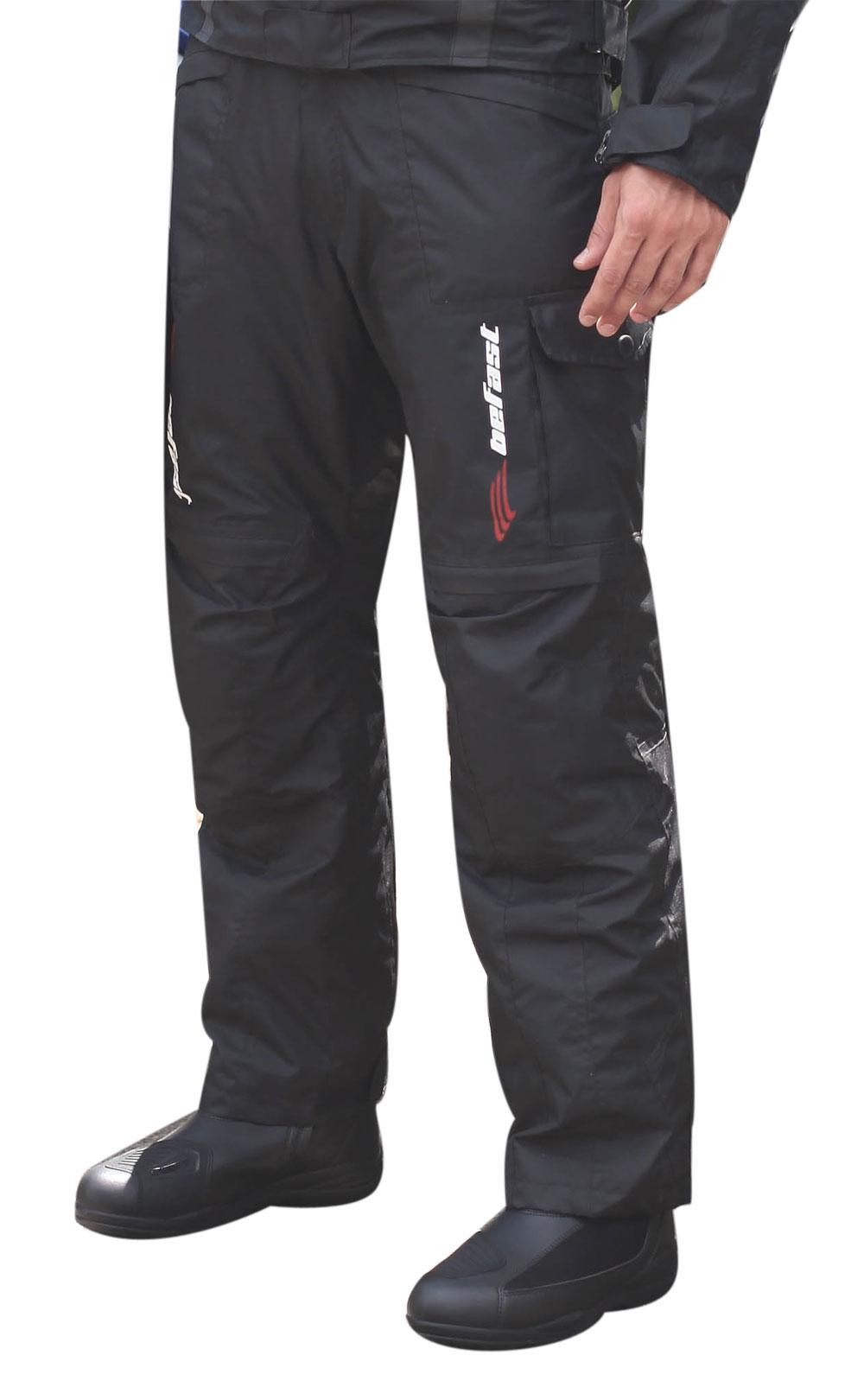 Pantaloni moto Befast Tuono WP Nero
