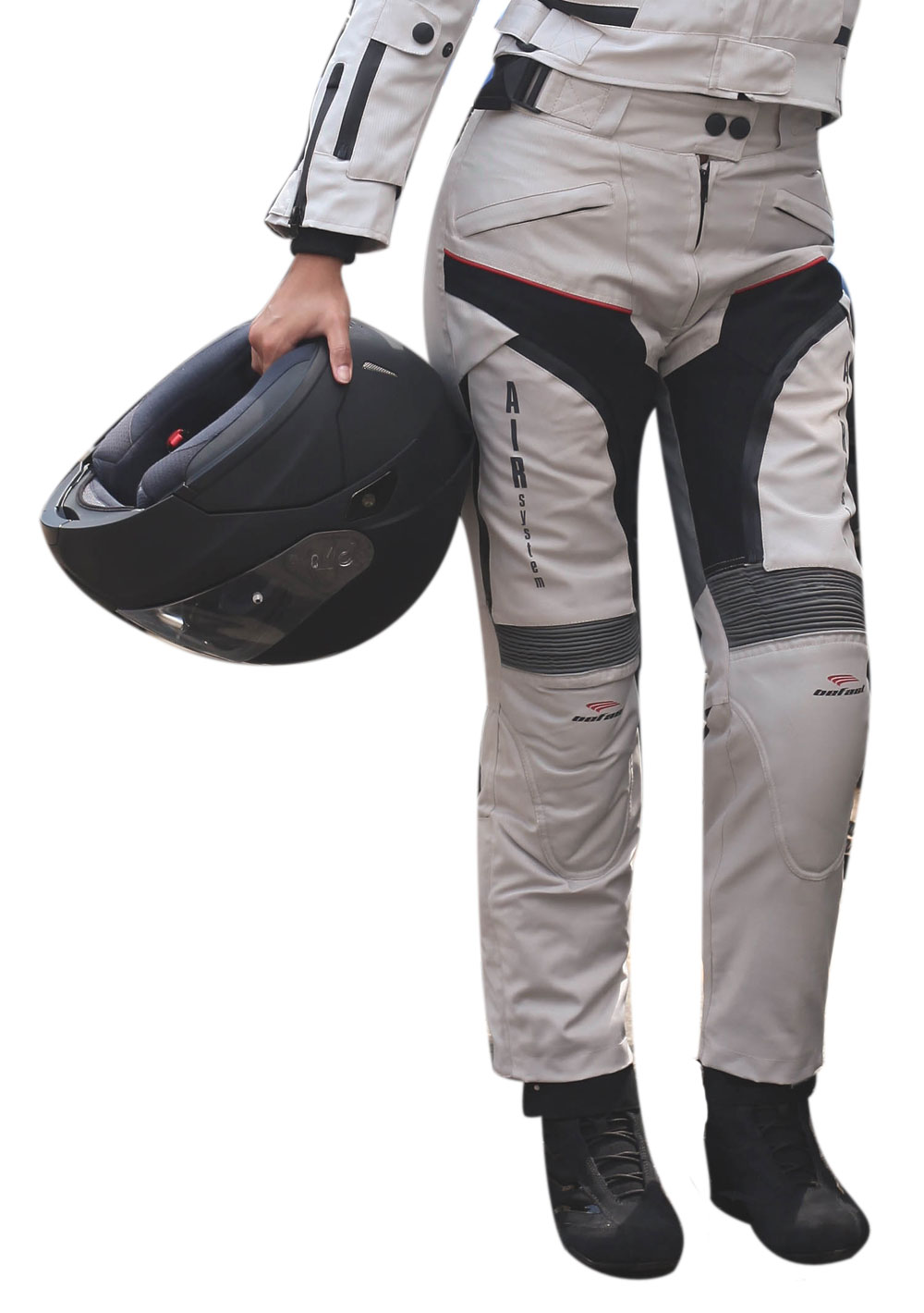 Pantaloni moto donna Befast Multiforce Lady con Air System Grigi