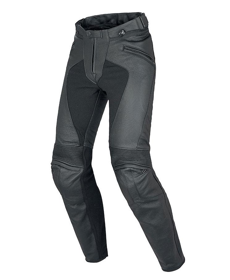 Pantaloni moto donna pelle estivi Dainese Pony C2 Lady Nero