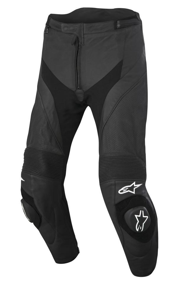 Pantaloni moto pelle Alpinestars Missile Airflow neri