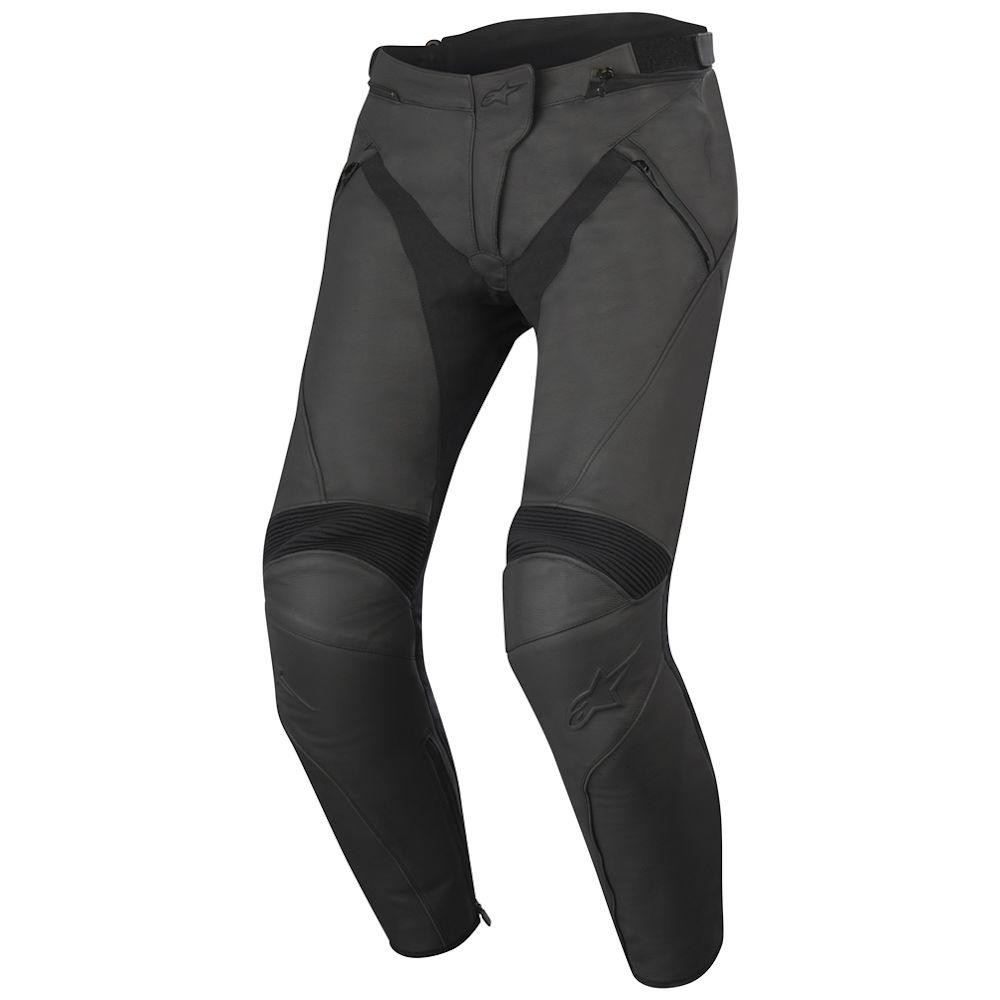 Pantaloni moto pelle donna Alpinestars Stella Jagg neri