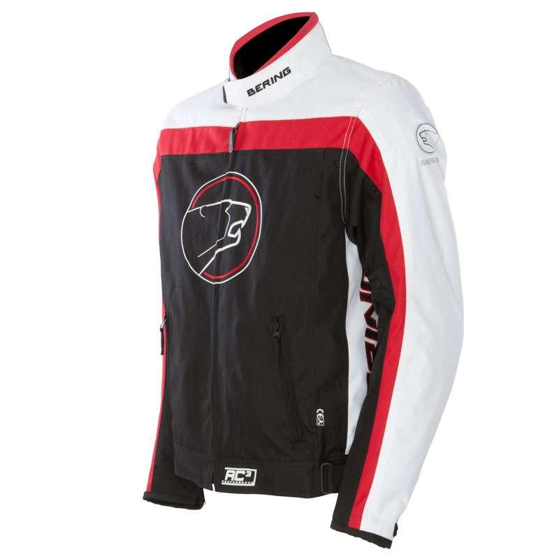 Approved Bering waterproof motorcycle jacket Dink Black White Re