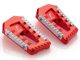 Poggiapiedi Rizoma Touring colore Rosso, senza adattatori