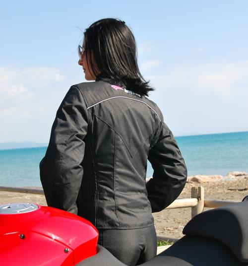 Giubbotto moto donna Befast Penelope EVO nero