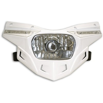 Ufo replacement plastic Stealth headlight - lower part - White
