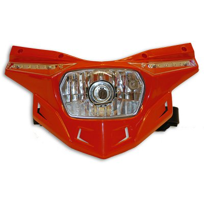 Ufo replacement plastic Stealth headlight - lower part - Red