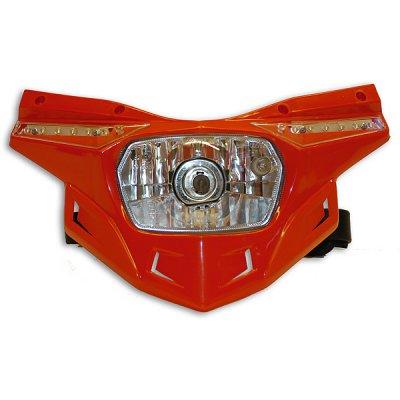 Ricambio plastica portafaro Ufo Stealth -parte bassa- Rosso