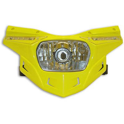 Ricambio plastica portafaro Ufo Stealth -parte bassa- Giallo