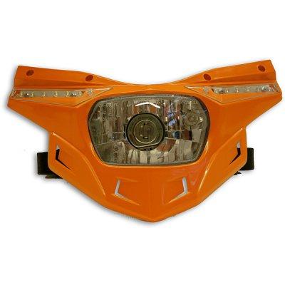 Ufo replacement plastic Stealth headlight - lower part - Orange