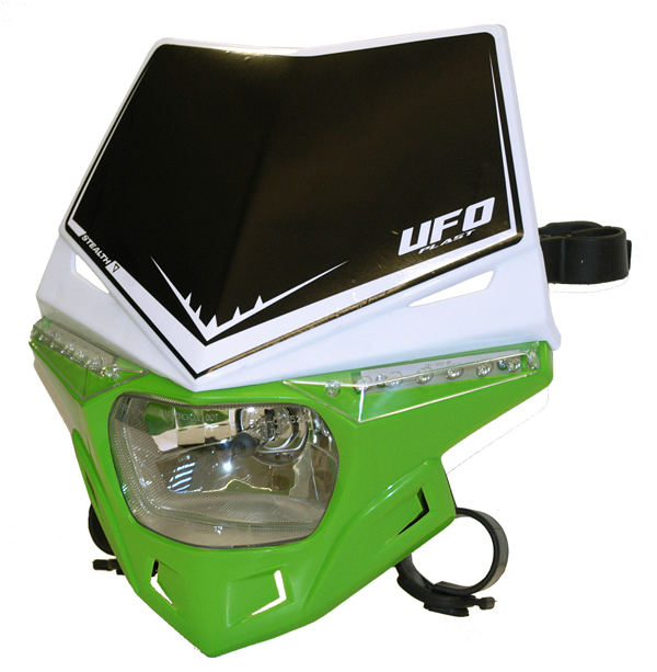 Ufo Plast Stealth headlight Dual colour white-green
