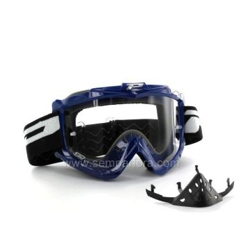 Progrip eco 3301 off road goggles with nose protection Blue
