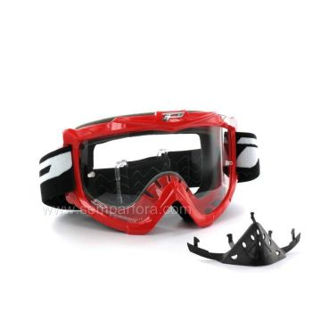 Progrip eco3301 off road goggles with nose protection Red