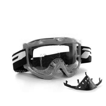 Progrip eco3301 off road goggles with nose protection Silver