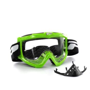 Progrip eco 3301 off road goggles with protection Green