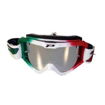 Occhiali moto cross enduro lente specchio Progrip 3450 Italia