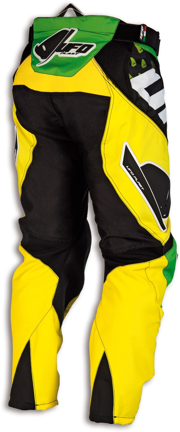 Pantaloni cross Ufo Misty Verde Giallo