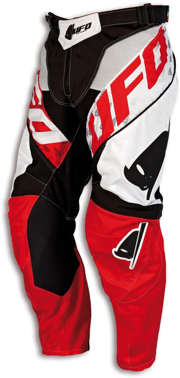 Pantaloni cross Ufo Misty Bianco Nero Rosso