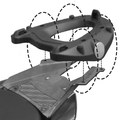Kappa specific plate for Suzuki Burgman AN400K7/K8/K9 MONOKEY