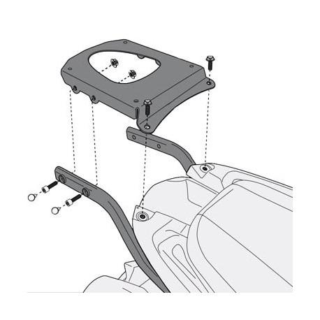 Givi luggage rack for Triumph