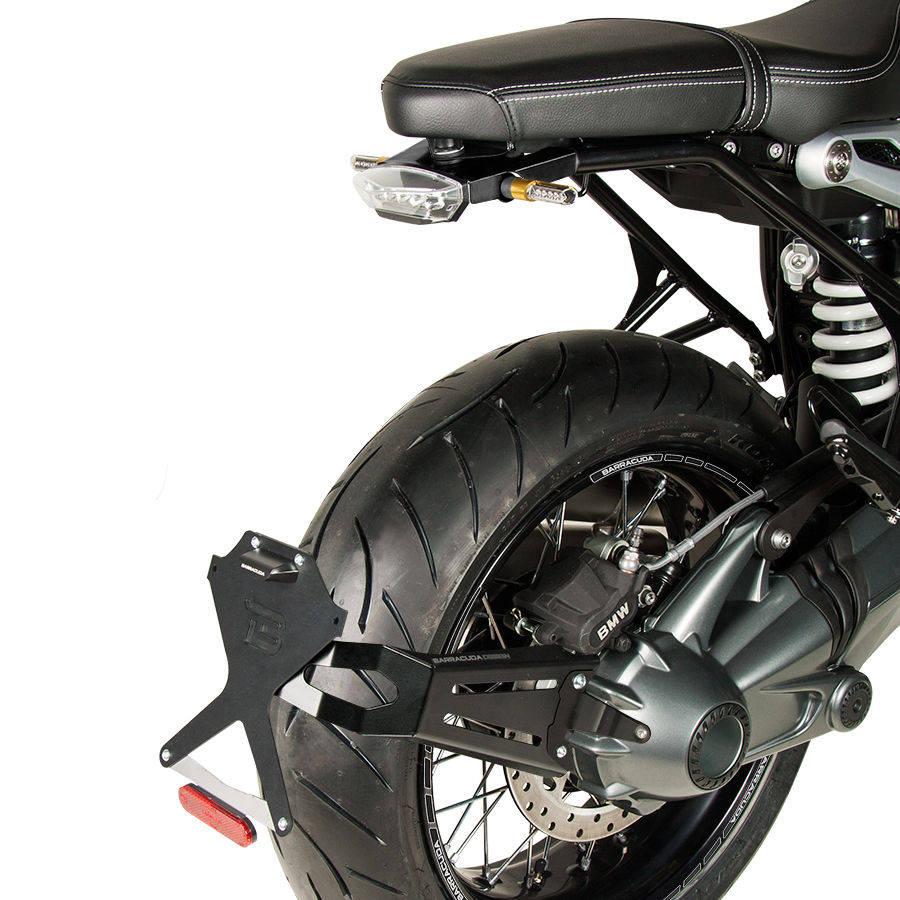 Portatarga regolabile Barracuda Side Naked BT1104S per BMW