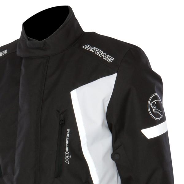Giacca moto Omologata Bering Katana 3 strati Nero Bianco