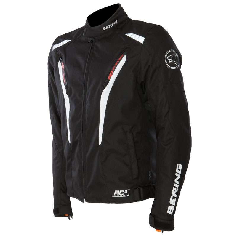 Approved waterproof motorcycle jacket Bering Max Black Orange