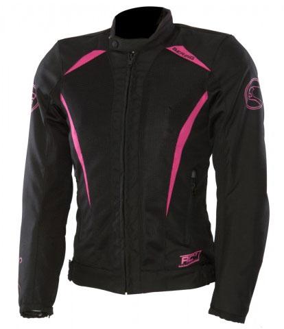 Approved summer motorcycle jacket woman Bering Keers Black Pink
