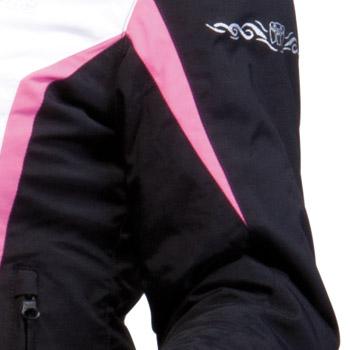 Motorcycle jacket woman Approved Bering Laurene Black Pink