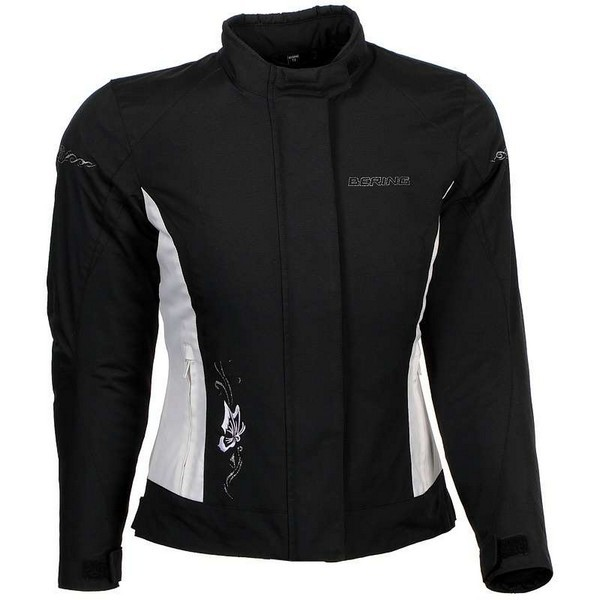 Motorcycle jacket woman Approved Bering Laurene Black White
