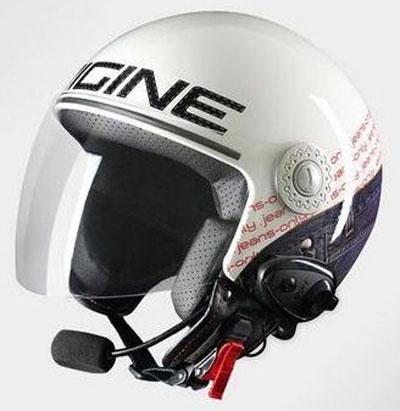 Origine Pronto Jeans jet helmet with Bluetooth